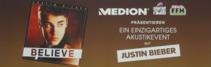Justin Bieber live in The Squaire in Frankfurt